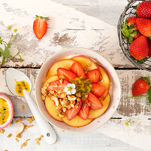 Peach and passion fruit summertime overnight oats